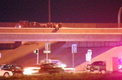 Man over Interstate I-225