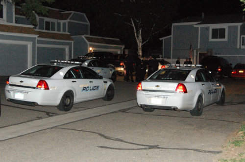 Exclusive photo from The Shores home-invasions Monday night 9/1/14 - photo by Shane Anthony AuroraNews1.com