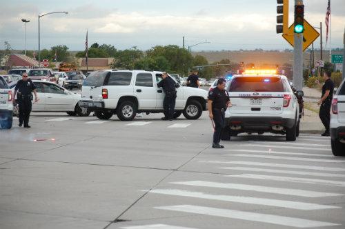 Plenty of cops at this scene - Photo by Shane Anthony AuroraNews1.com