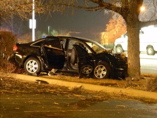 Medium shot of the fatal crash scene. Photo by Shane Anthony AuroraNews1.com