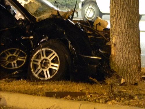 Close up of the fatal crash.  Photo by Shane Anthony AuroraNews1.com