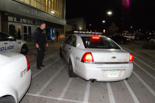 A man was Tased by Aurora police at this Walmart located at 33rd and Tower Rd.  Photo by Shane Anthony AuroraNews1.com