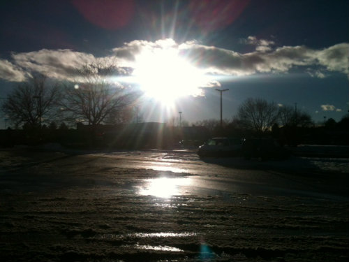 The partial thaw today in Aurora was nice but won't last.  Photo by Shane Anthony AuroraNews1.com