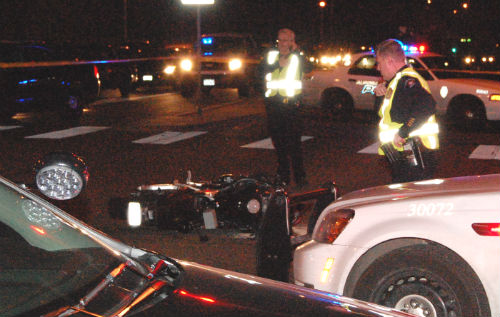 A fatal auto vs. motorcycle crash occurred at E. Iliff Ave. and S. Blackhawk St. 01/25/15