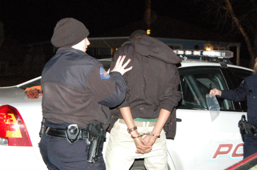 Teen car theft suspects were busted early Saturday morning by Aurora Police.  Photo by Shane Anthony AuroraNews1.com