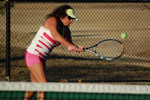 Tennis in Colorado during January? Pic 1. Photo by Shane Anthony AuroraNews1.com