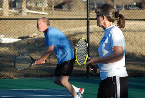 Tennis in Colorado during January? Pic2.  Photo by Shane Anthony AuroraNews1.com