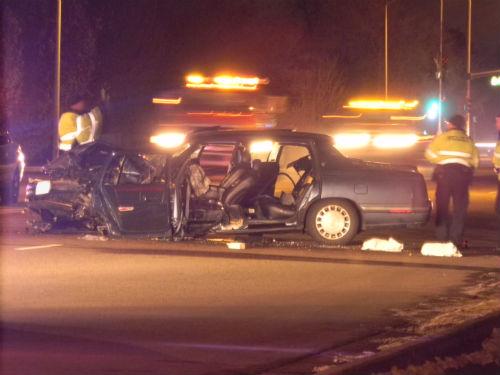 6th Ave. and N. Kenton crash 3.  Photo by Shane Anthony AuroraNews1.com
