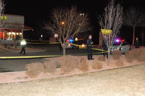 Wafle House shooting 3.  Photo by Shane Anthony AuroraNews1.com
