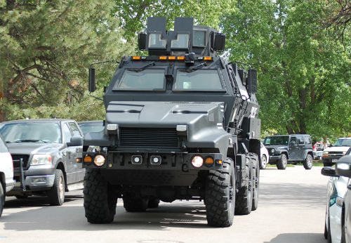 A quiet Greenwood Village neighborhood looks like a military zone.  Exclusive Photo by Shane Anthony AuroraNews1.com